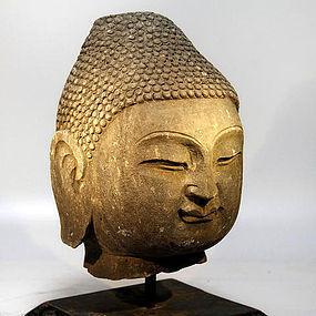 Chinese Buddha head from 1900