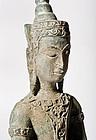 Excavated Siam Ayutthaya Bronze Statue 16th.cent.