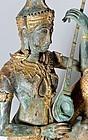 19th. century Thai Bronze Statue of  Phra Aphai Mani