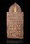 Buddha solid wood templerelief Siam 19th. century