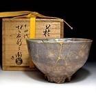 Hagi Chawan by the 14th. Shibei Sakakura with kintsugi