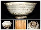 Very valuable Korai Hakeme Hira Chawan from the 16th century