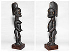 Pair of proud standing male and female figures of the Igbo Nigeria