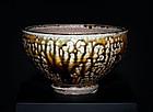 Large and perfect Mashiko Bowl by greatest Shoji Hamada