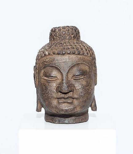 Chinese Stone Buddha Head Ming Dynasty 5,7 kg