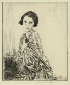 "Joseph Simpson, etching, ""Betty,"" 1927"