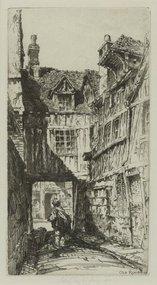 """John Taylor Arms, etching, """"Old Rouen,"""" 1917"""