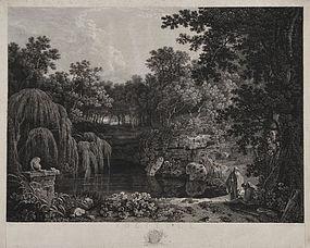 "William Woollett, engraving, ""Solitude,"" 1778"