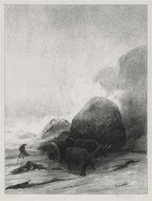 """Albert W. Barker, lithograph, """"Beyond Paul Point,"""" 1930"""