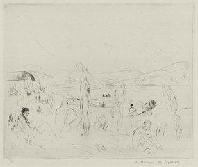 "Andre Dunoyer de Segonzac, ""The Beach at Saint Tropez"""