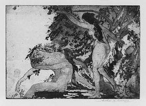 "Arthur Bowen Davies, Etching, ""Maenads,"" 1918-1919"