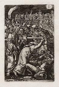"Johannes Wierix, Engraving, ""Betrayal of Christ"""