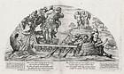 """Nicolas Mignard, Etching """"Odysseus and the Sirens"""" 1637"""