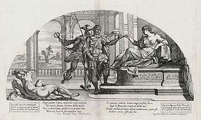 "Nicolas Mignard, ""Odysseus and Hermes Before Circe"""