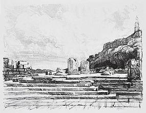 "Joseph Pennell, Lithograph, ""Eleusis"""