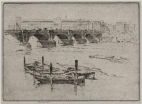 "Joseph Pennell, ""Waterloo Bridge and Somerset House"""