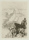 """Thomas Moran, Etching, """"The Half Dome- View From Moran Point"""" 1887"""