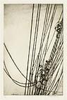 "Arthur J. T. Briscoe, etching, ""The Main Rigging"" 1928"