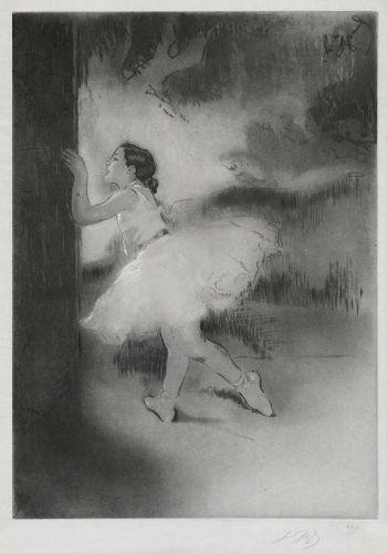 """Louis Auguste Mathieu Legrand, etching, """"Première Danseuse (Soloist)"""""""