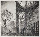 """Sir Frank Brangwyn, etching, """"Scaffolding, No. 1 (L`Échafaudage)"""""""