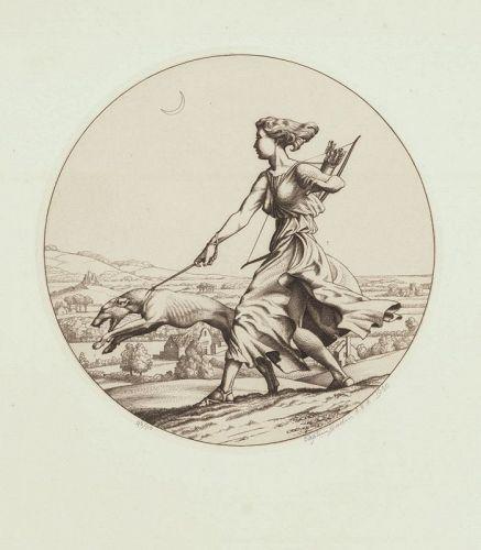 Stephen Gooden,engraving, Diana