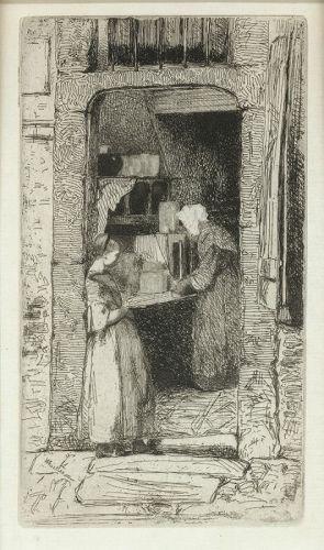 Whistler etching, La Marchande de Moutarde
