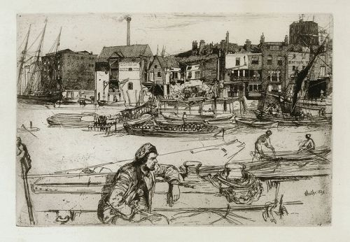 Whistler etching, Black Lion Wharf