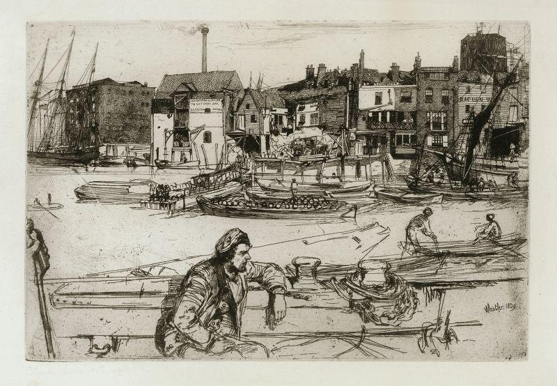 Whistler etching, Black Lion Wharf