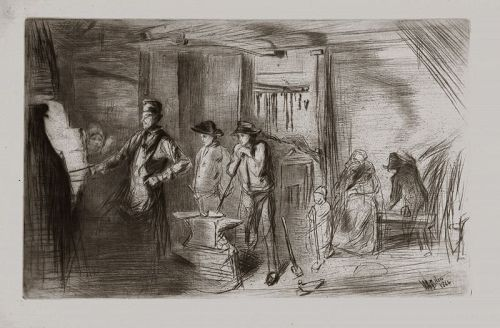 Whistler etching, The Forge