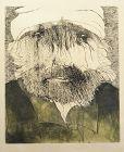 Leonard Baskin etching, Hercules Seghers portrait