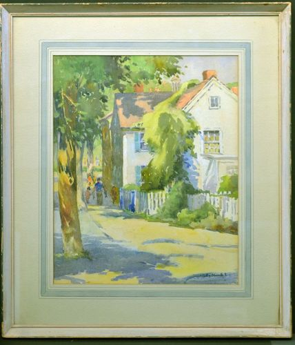 Polly Nordell painting, Cape Ann Street