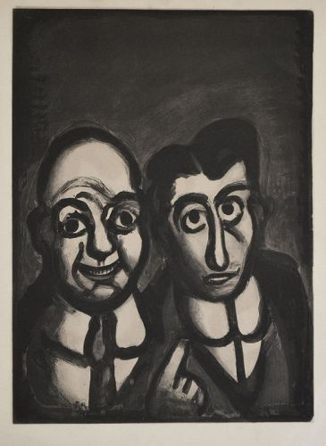 Georges Rouault etching, Nous Sommes Fous