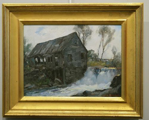 Stanley Woodward painting, The Old Grist Mill, Sudbury Ma