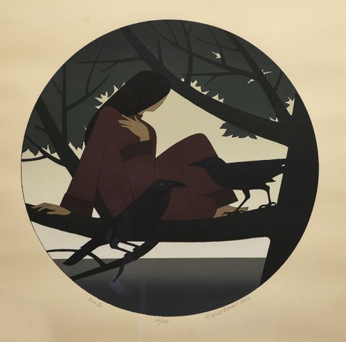 Will Barnet serigraph, Circe II