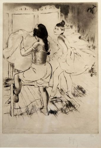 Louis Legrand etching, L'Habillage