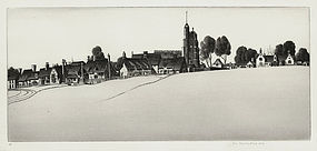 "John Taylor Arms, Etching, ""Cavendish Common"", 1942"