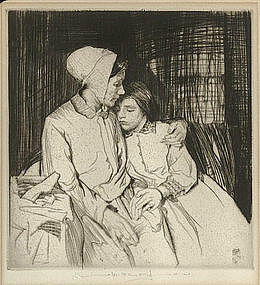 "William Lee Hankey etching, ""Forgiveness"""
