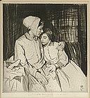 "William Lee Hankey etching, ""Forgiveness"""