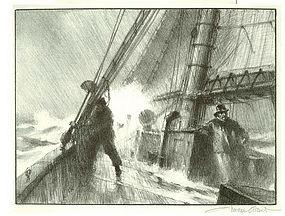 "Gordon Grant, Lithograph, ""Heading For Port"""