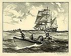 "Gordon Grant, Lithograph, ""The Whale Hunt"""