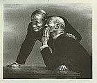 "Joseph Hirsch, Lithograph, ""The Confidence"""