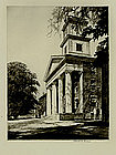 """Chester B. Price, Etching, """"Architectural Study"""""""