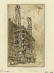 """Ernest Stephen Lumsden, """"Paris in Construction, No. 5"""""""