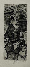 """Jacques Villon, Etching, """"Fete Champetie"""""""