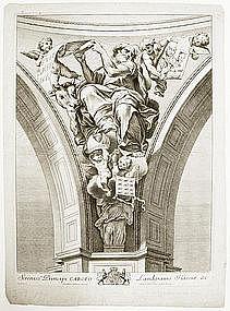 "Nicholas Dorigny, Engraving, ""Saint Luke"""