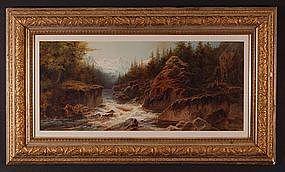 "Arthur Croft, ""Path Along the Mountain Torrent"""