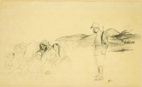 """Jean Louis Forain, lithograph, """"En Greece"""""""