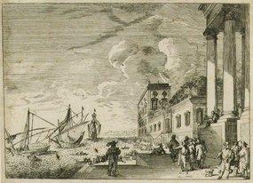"Jacques Callot, engraving, ""Port Scene"""