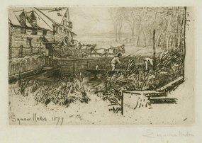 "Sir Francis Seymour Haden, etching, ""Dusty Millers"""