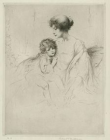 """Arthur Heintzelman, etching, """"Convalescence"""""""